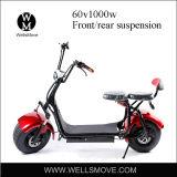 Vespa eléctrica original del modelo 1000W Harley del diseño con el asiento doble