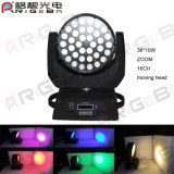36pcs Zoom de 10W RGBW Etapa LED de luz en movimiento