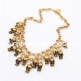 La joyería de moda de primavera de 2013 cadena ajustable con chapado en oro de la cabeza y cráneo colgantes (PN-019)