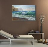 海の波の油絵