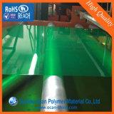 Лист PVC транспаранта зеленый покрашенный Matt твердый для складывая коробок