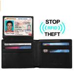 マルチ機能革旅行人のための細い帯出登録者の札入れを妨げるRFID