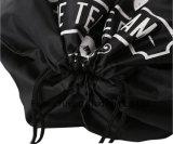 sac à dos en nylon de sac de cordon du polyester 210d noir
