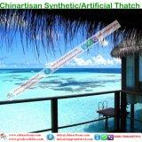Kunstmatig met stro bedek de Staaf van Tiki van het Dak/Paraplu van het Strand van de Bungalow van het Water van het Plattelandshuisje van de Hut Tiki de Synthetische Met stro bedekte
