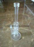 Pipe claire de conduite d'eau de grenouille mugissante en verre de Pyrex
