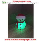 Luzes de Natal a pilhas do bulbo do diodo emissor de luz do boneco de neve
