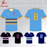 La broderie de Healong All Over la sublimation badine le football Jersey