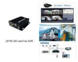 CE пропуска автомобиля DVR карточки H. 264 SD показателя реальное время 4CH/FCC/SGS (HT-6704)
