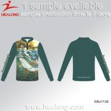 A camisa Sublimated personalizou a pesca do desgaste do esporte de Jersey