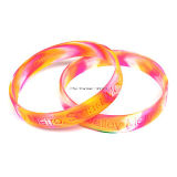 Bracelet coloré de silicium de mode d'enfants d'OEM pour le cadeau de promotion