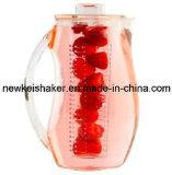 pichet acrylique de l'infusion 2.5L avec le tube de faisceau de glace