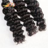 extensão profunda do cabelo humano da onda do Weave brasileiro do cabelo do Virgin 7A