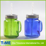 Mason Jar de vidrio con tapa de acero inoxidable