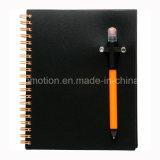 Custom Student PP Cover Spiral Notebook com caneta (PPN229)