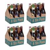 Brown sechs Satz-Bierflasche-Träger