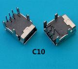 심천 공장 SMD 소형 USB B 180 연결관