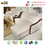 Neues italienisches modernes Schnittwohnzimmer-Leder-Sofa (HCS01)