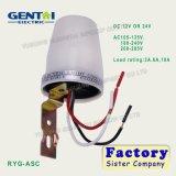 Interruptor leve do sensor leve ao ar livre de Photocontrol do interruptor do sensor IP54