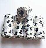 Sacchetto popolare di Poop dello spreco del cane nero del rifornimento dei cani del PE del prodotto dell'animale domestico
