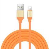 1m TPE Ronda USB Cable de datos para Samsung iPhone 8/X