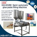 Máquina de rellenar de la goma doble semiautomática de las pistas para la salsa del atasco (G2LGD280)