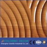 MDFの波の装飾的な3D壁パネル