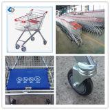 100l de carrinho de compras com roda de PVC de 4 polegadas
