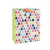 カラー波状の方法衣類はおもちゃのギフトの紙袋に蹄鉄を打つ