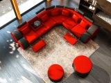 Grande L moderna sofà del cuoio di svago di figura (L054)