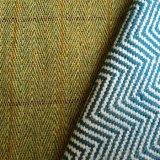 Tela Herringbone rota tweed de las lanas de la tela cruzada, tela de lana de Hbt para la capa