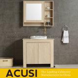 Étage restant la vanité de salle de bains de modèle moderne en bois solide (ACS1-W95)