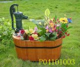 Houten Barrel Fountain