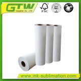 100gsm Anti-Curl sublimación de secado rápido, rollo de papel de transferencia