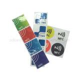 Etiqueta engomada de alta frecuencia de la aduana 13.56MHz RFID/NFC con el pegamento