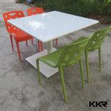 Tabella e presidenze di marmo artificiali del ristorante della mobilia della sala da pranzo