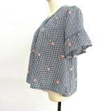 Летом женщин одежду короткое замыкание втулку из вышивки для дожигания газа блуза втулки