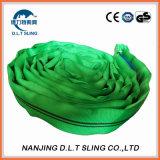 fábrica redonda de China do estilingue do poliéster 2ton verde