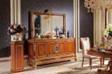 0062-1 Italian Solid Wood Luxury Antique Long Dining Counts Set Furniture