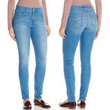 2018 jeans scarni del denim delle donne della vita di nuova stirata di modo alti