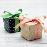 Quadrat druckte aufbereiteten Papppapier-Geschenk-Kasten für Haar-Zubehör