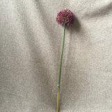 단 하나 줄기 플라스틱 꽃 인공적인 양파 잔디 공