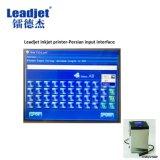 Pequeños números de fecha en línea de Experation del tiempo de la impresora de inyección de tinta del carácter que marcan la máquina del conjunto