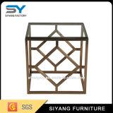 Jardim Mobiliário de exterior de Vidro dourado mesa de café