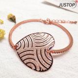 로즈 지르콘 돌 다이아몬드를 가진 금에 의하여 도금되는 단순한 설계 발렌타인 선물 큰 심혼 모양 팔찌
