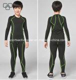 2017 pantaloni comodi e parte superiore di ginnastica degli abiti sportivi su ordinazione all'ingrosso dei bambini