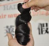 ペルーのバージンの毛の拡張は波の毛の織り方を緩める
