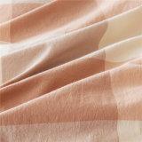 Folha de base Home luxuoso do algodão da verificação cor-de-rosa do algodão