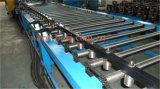 O aço entalhou o rolo da bandeja de cabo do furo que dá forma à máquina com detalhe/perfurou a formação do rolo da bandeja de cabo