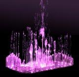 Fuente de agua al aire libre de la música
