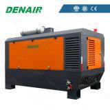 Compresseur d'air rotatoire monté par dérapage diesel industriel de vis de qualité de Denair sur des roues